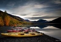Eklutna Lake is 17 miles north of Anchorage and is an inspiring glacier fed lake.