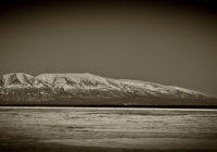 Mt. Susitna Alaska affectionately known to locals as Sleeping Lady.