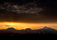 Denali Sunset from Anchorage