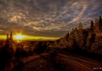 Sunset over Denali Park along the Talkeetna Spur road