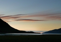 Image taken from Hope Alaska at the mouth of  Turnagain Arm with  Mt. Hope on the left and The Seward Highway to the right.